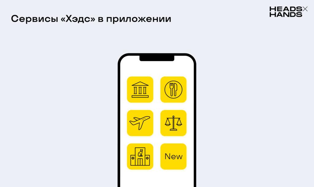 Сервисы цифровой экосистемы «Хэдс» в приложении