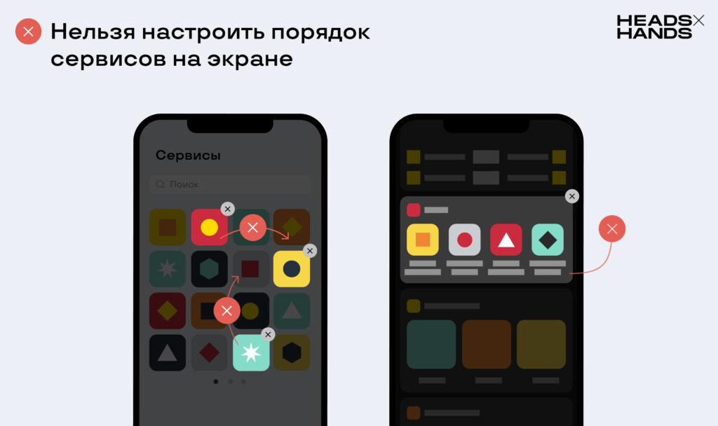 Возможная кастомизация сервисов в супераппах «ВКонтакте» и «Тинькофф»