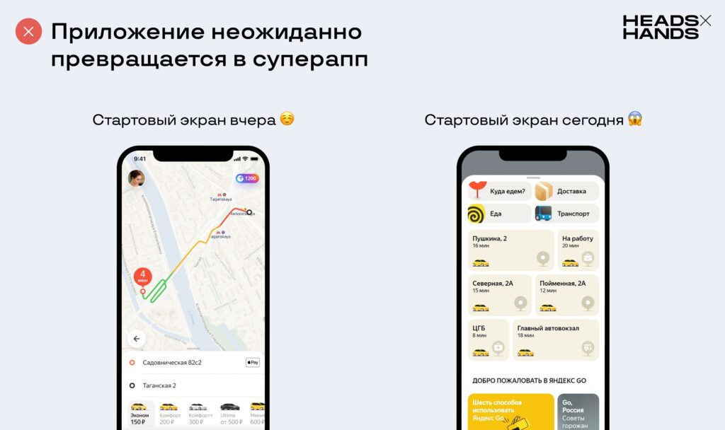 Приложение «Яндекс.Такси» превратилось в суперапп «Яндекс Go»